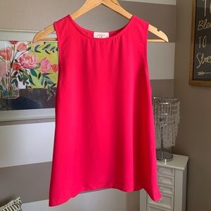Everly scalloped back detail sleeveless top sz S